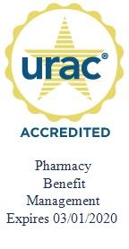 URAC Accredited Pharmacy Benefit Management, Expires 03/01/2020